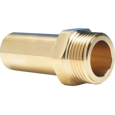 """John Guest 22mmx3/4"""" Bspt Ringmain Brass Stem Adaptor"""