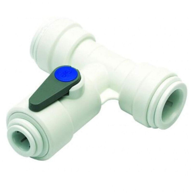 Image of John Guest ASV3 - Angle Stop Valve 1/4' Water Feed Connector 15mm Push Fit