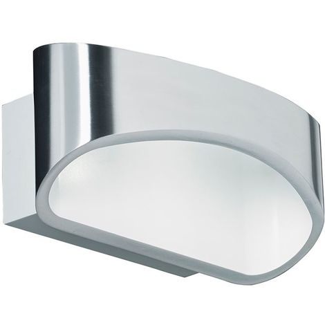 Johnson 1lt wall 5W warm white - polished aluminium