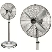 Johnson lusso ventilatore acciaio piantana colonna h reg fino a 1,68 pala 40cm