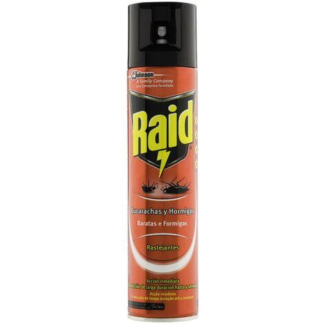 Johnson Raid aerosol cucarachas y hormigas, insecticida en spray - 423 gr