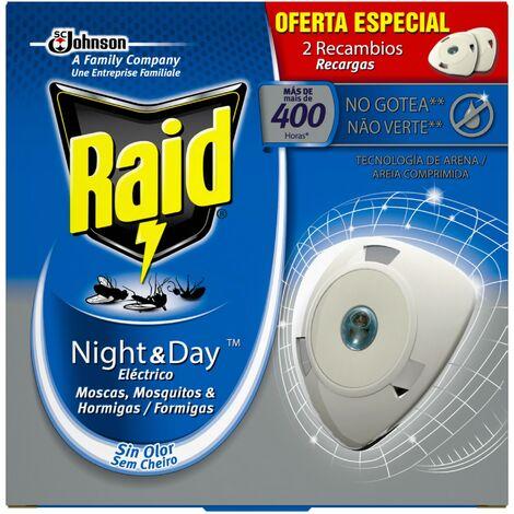 Johnson Raid eléctrico day & night, recambio de insecticida - Paquete de 2 x 19 gr - Total: 38 gr