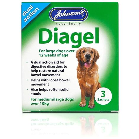 Johnsons Diagel Dog Sachet (Pack Of 3) (One Size) (May Vary)