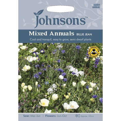 Johnsons Seeds - Pictorial Pack - Flower - Mixed Annuals Billie Jean