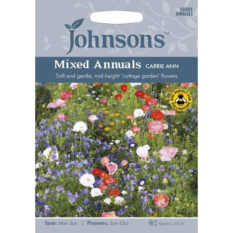 Johnsons Seeds - Pictorial Pack - Flower - Mixed Annuals Carrie Ann