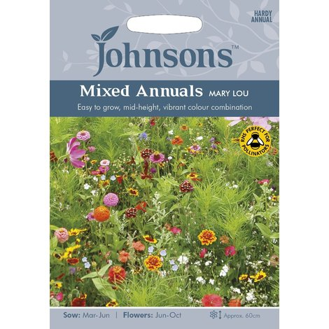 Johnsons Seeds - Pictorial Pack - Flower - Mixed Annuals Mary Lou