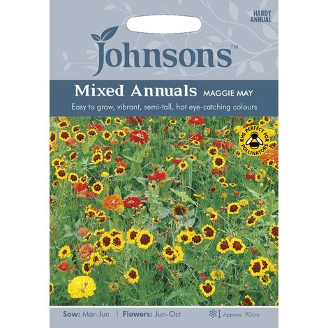 Johnsons Seeds - Pictorial Pack - Flower - Mixed Annuals Peggy Sue