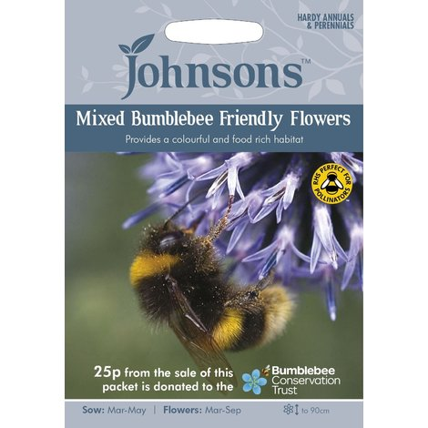 Johnsons Seeds - Pictorial Pack - Flower - Mixed Bumblebee Friendly Flowers