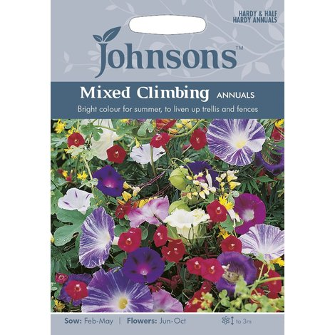 Johnsons Seeds - Pictorial Pack - Flower - Mixed Climbing Annuals