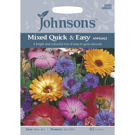 Johnsons Seeds - Pictorial Pack - Flower - Mixed Quick and Easy Annuals