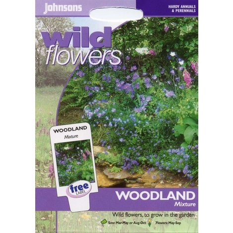 Johnsons Seeds - Pictorial Pack - Flower - Wildflower Woodland Mixture