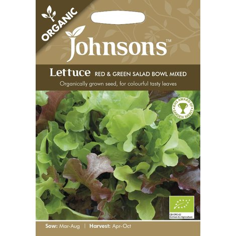 Johnsons Vegetable Lettuce Red /& Green Salad Bowl Mixed 1250 Seeds