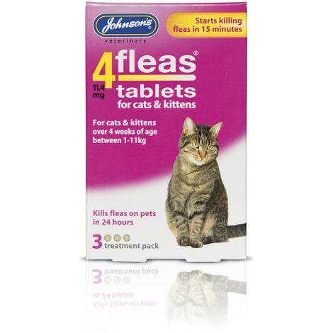 Johnsons Veterinary 4Fleas Tablets For Cats & Kittens