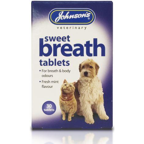 Johnsons Veterinary Dog/Cat Sweet Breath Tablets (30 Tablets) (May Vary)