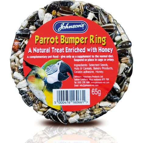 Johnsons Veterinary Parrot Bumper Ring Treat (One Size) (May Vary)