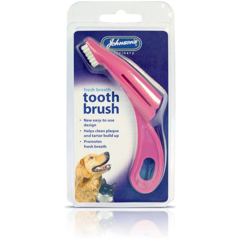 Johnsons Veterinary Pet Toothbrush (One Size) (Pink)