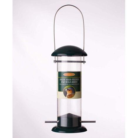 Johnston & Jeff Niger Bird Seed Metal Feeder (20cm) (Black)