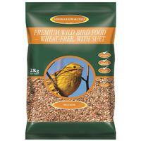 Johnston & Jeff Premium Bird Seed 2kg No Mess, No Wheat