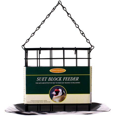 Johnston & Jeff Suet Block Bird Feeder With Tray (One Size) (Black)