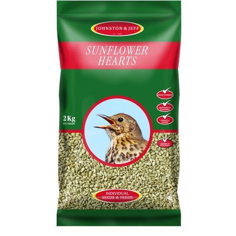 Johnston & Jeff Sunflower Hearts Bird Feed (2kg) (May Vary)