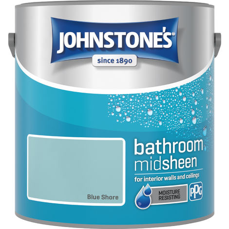 Johnstone's 2.5 Litre Bathroom Paint - Blue Shore