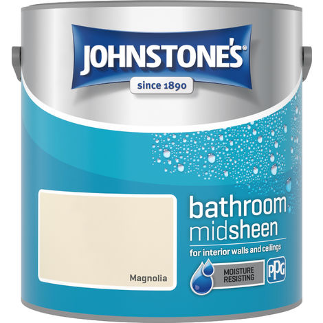 Johnstone's 2.5 Litre Bathroom Paint - Magnolia