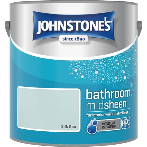 Johnstone's 2.5 Litre Bathroom Paint - Silk Spa
