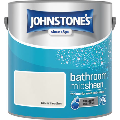 Johnstone's 2.5 Litre Bathroom Paint - Silver Feather