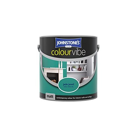 Johnstone's 2.5 Litre Colour Vibe Emulsion Paint - Jade Jewel