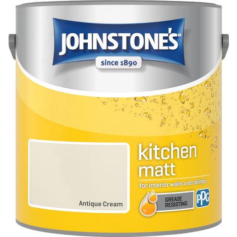 Johnstone's 2.5 Litre Kitchen Paint - Antique Cream