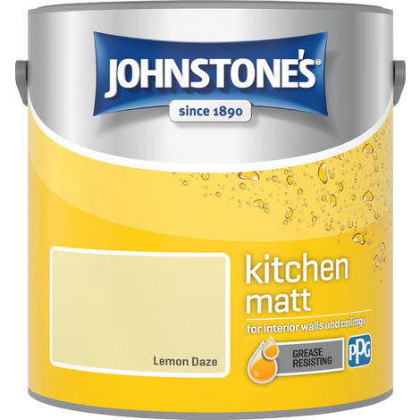 Johnstone's 2.5 Litre Kitchen Paint - Lemon Daze