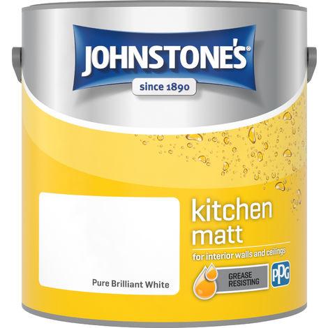 Johnstone's 2.5 Litre Kitchen Paint - Pure Brilliant White
