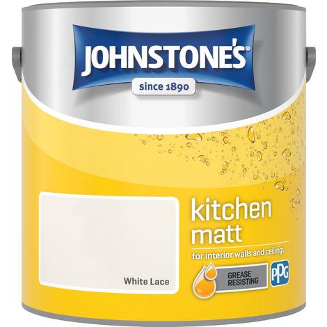 Johnstone's 2.5 Litre Kitchen Paint - White Lace