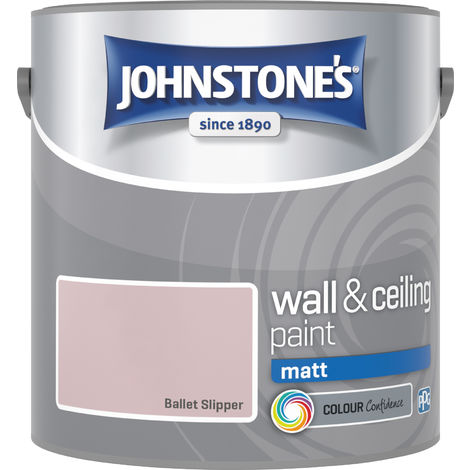 Johnstone's 2.5 Litre Matt Emulsion Paint - Ballet Slipper