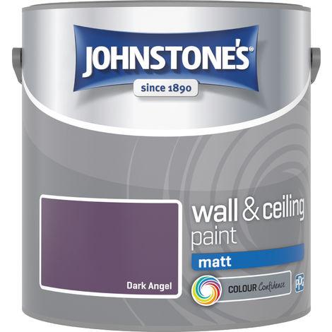Johnstone's 2.5 Litre Matt Emulsion Paint - Dark Angel