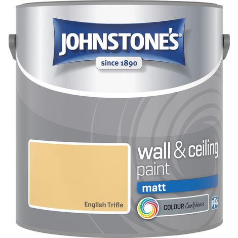 Johnstone's 2.5 Litre Matt Emulsion Paint - English Trifle