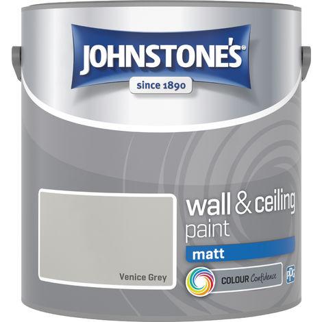 Johnstone's 2.5 Litre Matt Emulsion Paint - Venice Grey