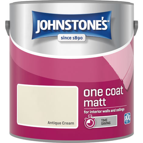 Johnstone's 2.5 Litre One Coat Matt - Antique Cream