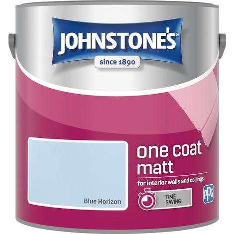 Johnstone's 2.5 Litre One Coat Matt - Blue Horizon