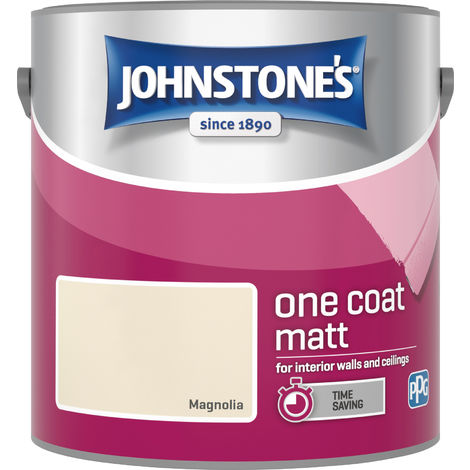 Johnstone's 2.5 Litre One Coat Matt - Magnolia