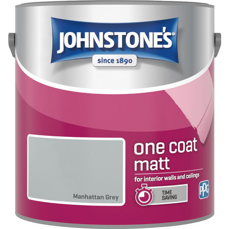 Johnstone's 2.5 Litre One Coat Matt - Manhattan Grey