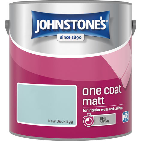 Johnstone's 2.5 Litre One Coat Matt - New Duck Egg