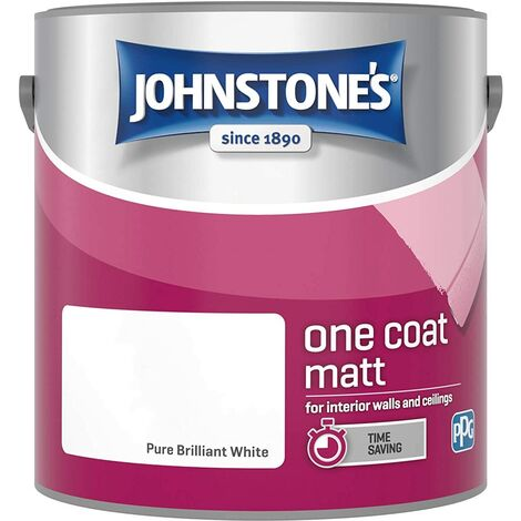 Johnstone's 2.5 Litre One Coat Matt - Pure Brilliant White