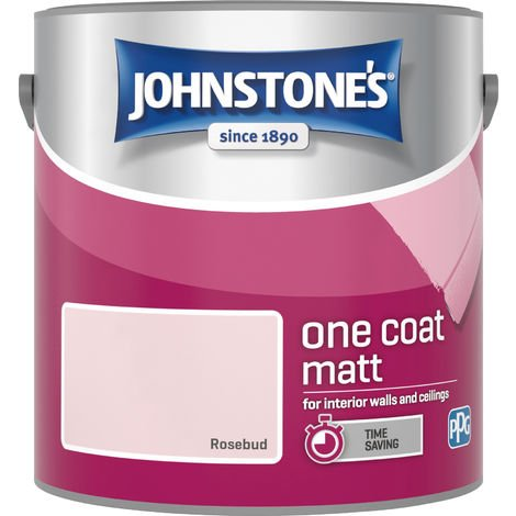 Johnstone's 2.5 Litre One Coat Matt - Rosebud