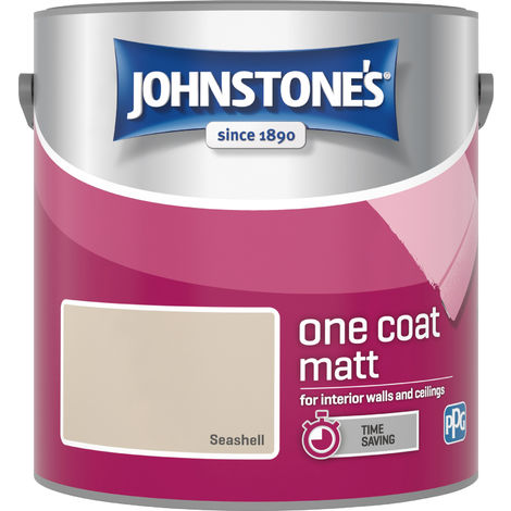 Johnstone's 2.5 Litre One Coat Matt - Seashell
