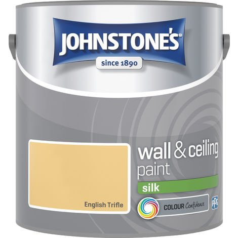 Johnstone's 2.5 Litre Silk Emulsion Paint - English Trifle