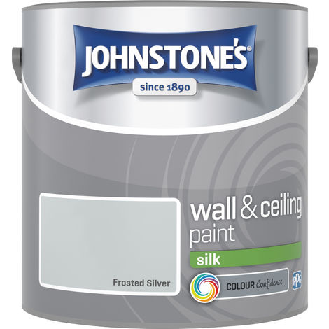 Johnstone's 2.5 Litre Silk Emulsion Paint - Frosted Silver