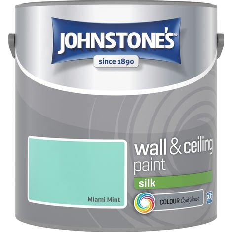 Johnstone's 2.5 Litre Silk Emulsion Paint - Miami Mint