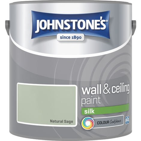 Johnstone's 2.5 Litre Silk Emulsion Paint - Natural Sage