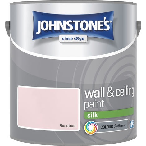 Johnstone's 2.5 Litre Silk Emulsion Paint - Rosebud